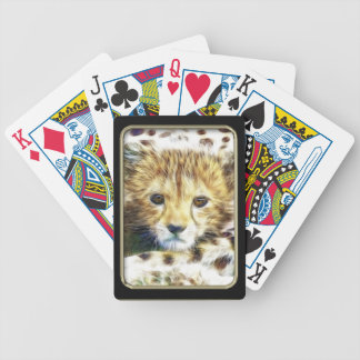 Cheetah Cub Fractal Art Playing Cards
