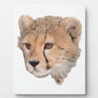 Cheetah Cub Headshot TWurl Plaque