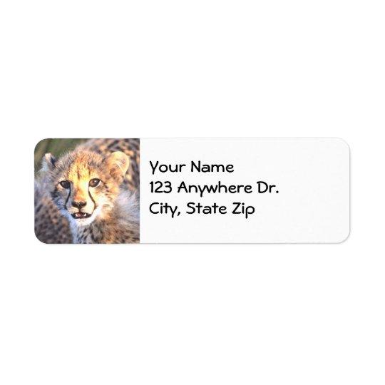 Cheetah Cub Label