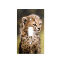 Cheetah Cub Light Switch Plate