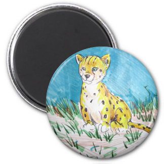 cheetah cub magnet