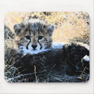 Cheetah cub mouse pad