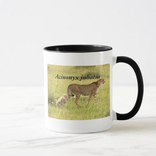 Cheetah & cub mug