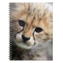 Cheetah cub spiral notebook