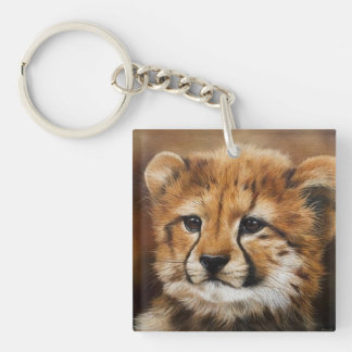 Cheetah Cub Two Sided Key Chain