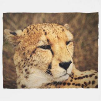 Cheetah Custom Fleece Blanket, Large