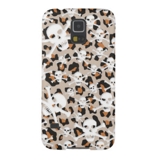 Cheetah Cutout Skull and Bones Galaxy S5 Cases