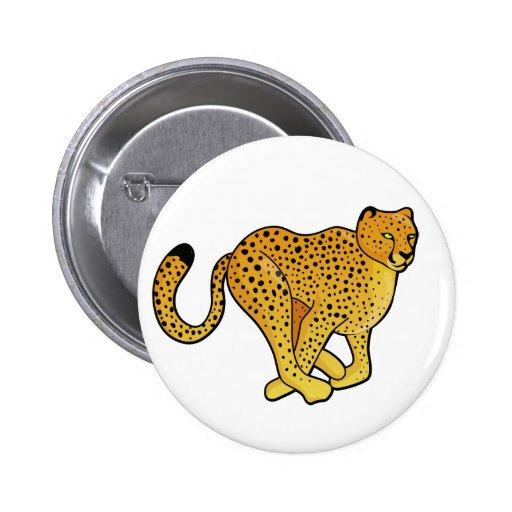 Cheetah Design Pinback Button