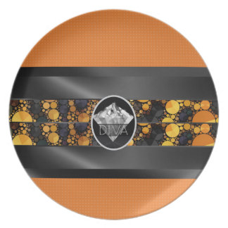 Cheetah Diamond Diva Plate