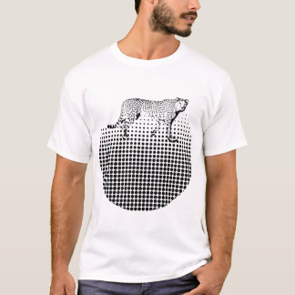 Cheetah Dot Abstract Design T-Shirt