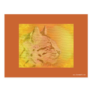 cheetah earth tones postcard