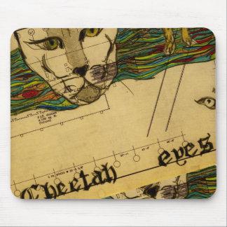 Cheetah Eyes Mouse Pad