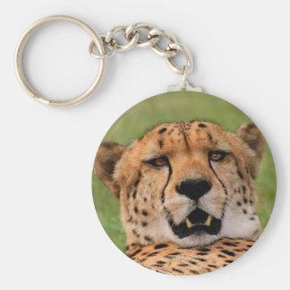 """Cheetah face - Keychain: round 2.25"""" Keychain"""
