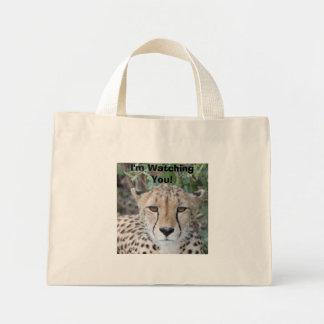 Cheetah Face Mini Tote Bag