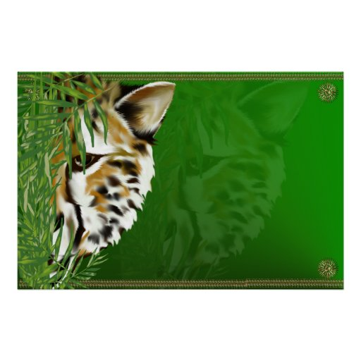 Cheetah Face Poster