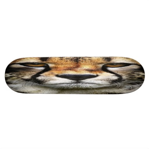Cheetah Face Skateboard