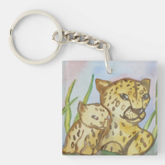 Cheetah family Keychain