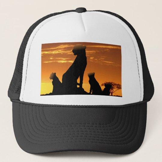 Cheetah family trucker hat