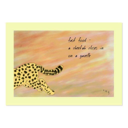 Cheetah Fast Food Haiku Art ACEO Trading Card #4