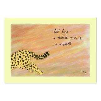 Cheetah Fast Food Haiku Art ACEO Trading Card #4 Business Card Templates