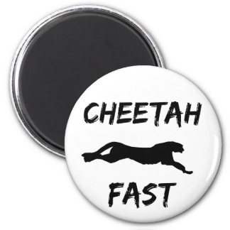 Cheetah Fast Funny Running Magnet