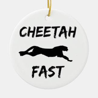 Cheetah Fast Funny Running Ornament