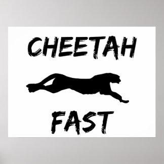 Cheetah Fast Funny Running Poster Wall Art