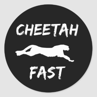 Cheetah Fast Funny Running Stickers