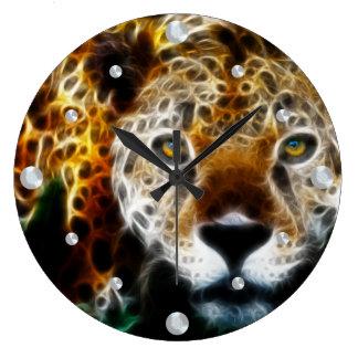 Cheetah Fractal  Wall Clock