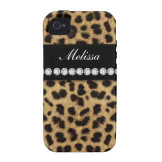 Cheetah Fur Diamonds Name Case For The iPhone 4