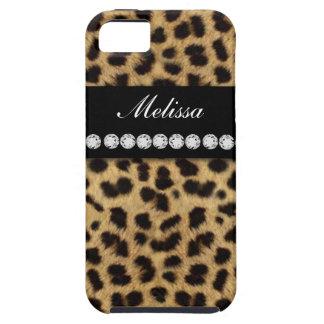 Cheetah Fur Diamonds Name iPhone 5 Case