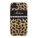 Cheetah Fur Diamonds Name Vibe iPhone 4 Covers