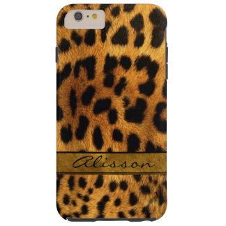 Cheetah Fur iPhone 6 Plus Custom Monogram Case