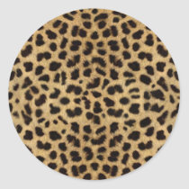Cheetah Fur Pattern, Cheetah Print Classic Round Sticker