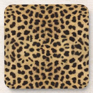 Cheetah Fur Pattern, Cheetah Print Beverage Coaster