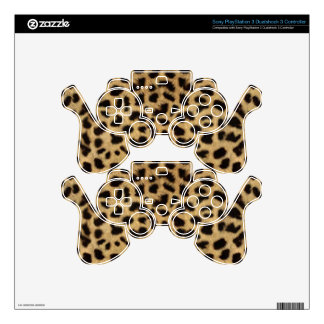 Cheetah Fur Pattern, Cheetah Print PS3 Controller Decals
