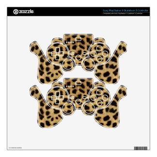 Cheetah Fur Pattern, Cheetah Print PS3 Controller Decals