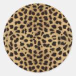 Cheetah Fur Pattern, Cheetah Print Classic Round Sticker