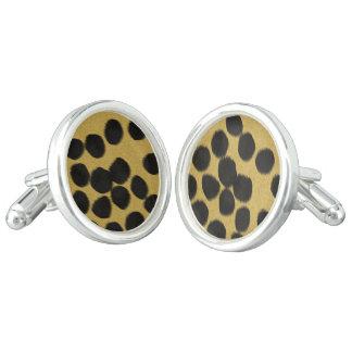 Cheetah fur print cufflinks