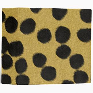 Cheetah fur texture print binder