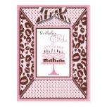 Cheetah Girl Birthday Invitation Postcard
