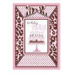 Cheetah Girl Birthday Reminder Card Business Card