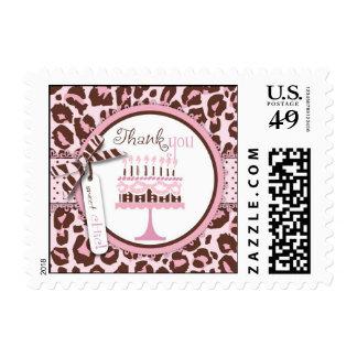 Cheetah Girl Birthday TY Stamp 2