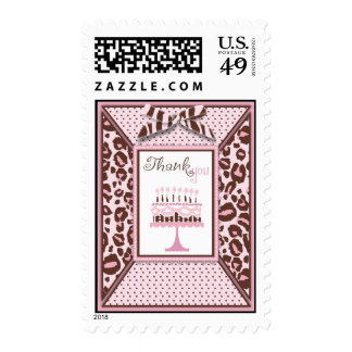 Cheetah Girl Birthday TY Stamp