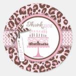 Cheetah Girl Birthday TY Sticker