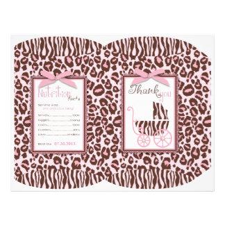 Cheetah Girl Gift Puff Box Template Flyers