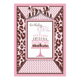 Cheetah Girl Gift Tag Large Business Card