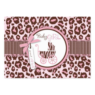 Cheetah Girl Gift Tag Pink D Business Cards