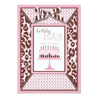 Cheetah Girl Invitation Card