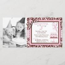 Cheetah Girl Invitation Photo Card
